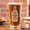 Etched Pint Glass - Design: Beer is Proof