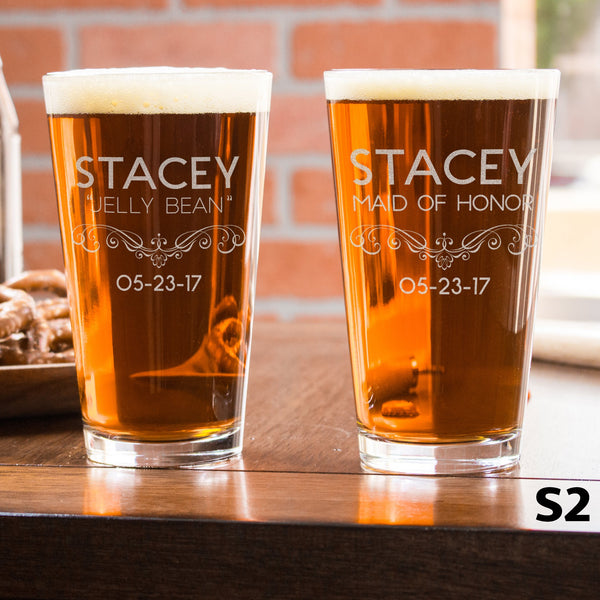 Personalized Pint Glass - 12 Designs