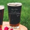 Etched Pint Glass Quarantine Bride Wedding Postponed - Design: COV2