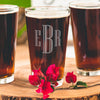 Etched Pint Glass - Design: INITIAL3