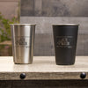 16 oz Stainless Steel Pint Glass - Design: N2