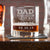 Engraved Whiskey Glasses Dad Established 1-3 Names - Design: DADEST