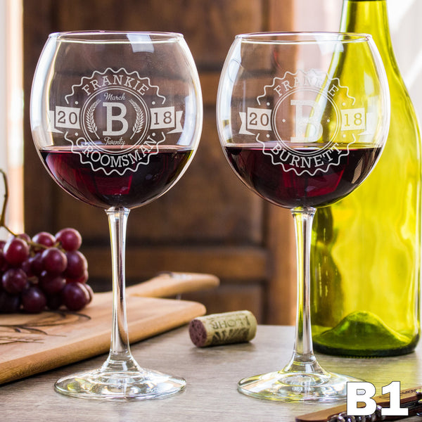 Red Wine Glass - Design: B1WP