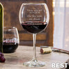 Etched Red Wine Glasses - Design: BEST