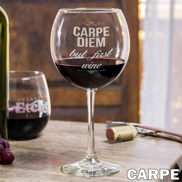 Red Wine Glass - Carpe