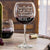 Etched Red Wine Glasses - Design: CUSTOM