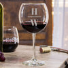 Etched Red Wine Glasses - Design: INITIAL2