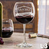 Monogram Red Wine Glasses
