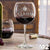 Etched Red Wine Glasses - Design: M2 Single Monogram