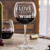 Red Wine Glass - Design: Runs On