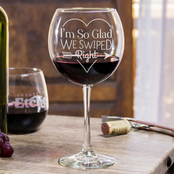 Red Wine Glass - Swipe Right