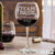 Etched Red Wine Glasses Team Bride - Design: WG2