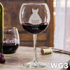Etched Red Wine Glasses - Design: WG3 Bridesmaids