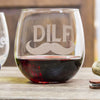 DILF Stemless Red Wine Glass - Design: DILF