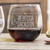 Etched Stemless Red Wine Glasses - Design: N2 Couples