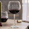 Etched Red Wine Glasses - Design: N2 Couples