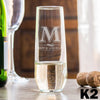 Stemless Champagne Glass - Design: K2