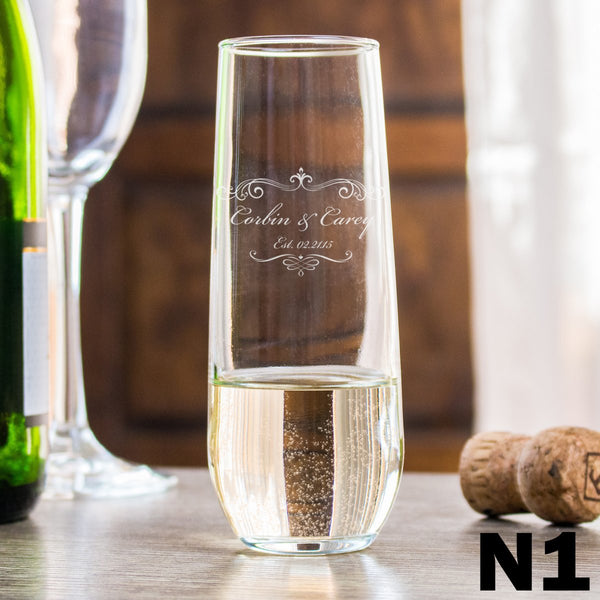 Stemless Champagne Glass - Design: N1