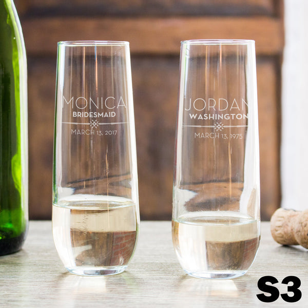 Stemless Champagne Glass - Design: S3