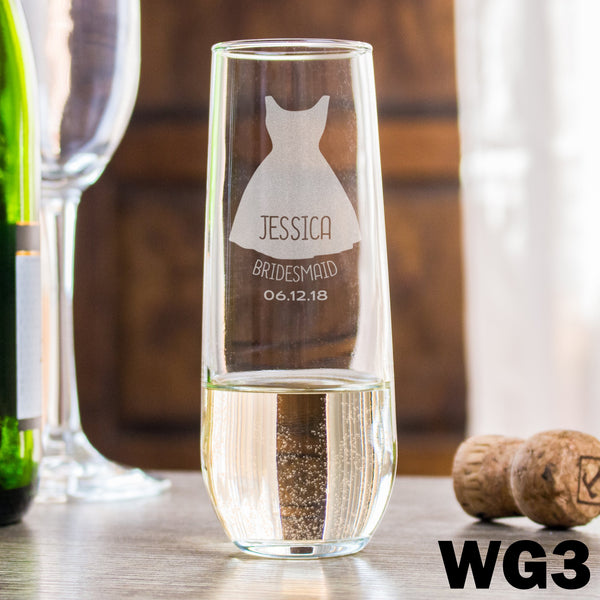 Stemless Champagne Glass - Design: WG3