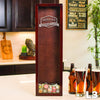 Small Rectangle Wine Cork Holder - Design: L3 Monogram