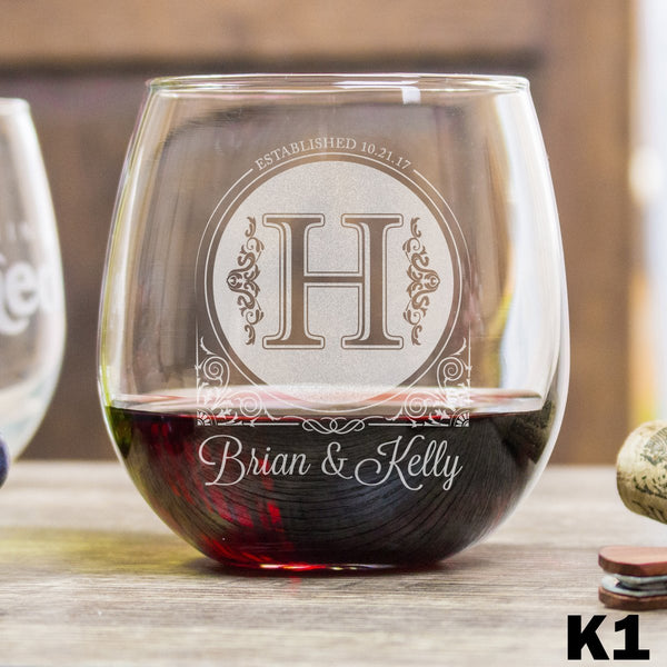 Stemless Red Wine Glass - K1