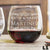 Etched Stemless Red Wine Glasses - Design: L1 Anniversary
