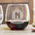 Etched Stemless Red Wine Glasses - Design: M1 Personalized