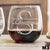 Etched Stemless Red Wine Glasses - Design: M3 Monogram