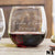 Etched Stemless Red Wine Glasses - Design: N1 Couples