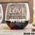 Stemless Red Wine Glass - Design: Runs On