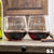 Etched Stemless Red Wine Glasses - Design: S1 Personalized