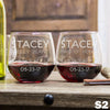 Stemless Red Wine Glass - Design: S2WP