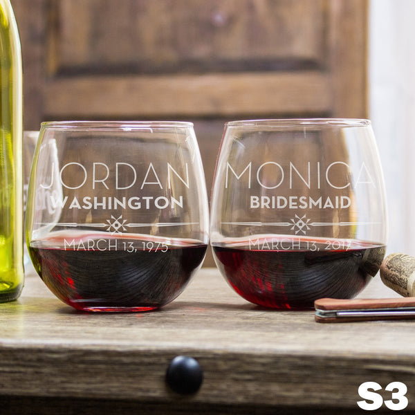Stemless Red Wine Glass - Design: S3WP