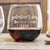 Stemless Red Wine Glass - Gal