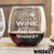Etched Stemless Red Wine Glasses - Design: Shot of Whiskey