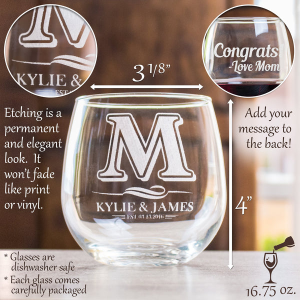 Stemless Red Wine Glass - Story