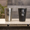 16 oz Stainless Steel Pint Glass - Design: INITIAL2