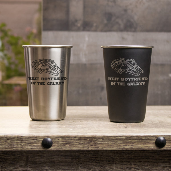 16 oz Stainless Steel Pint Glass - Design: VDGALAXY