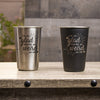 16 oz Stainless Steel Pint Glass - Design: VDWEIRD