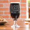 Personalized stout beer glass is customized with your logo, monogram, image, or text.