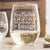 Stemless White Wine Glass - Custom Design/Logo