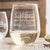 Stemless White Wine Glass - Design: Elegant