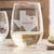 Etched Stemless White Wine Glasses - Design: Hometown