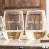 Stemless White Wine Glass - Design: S1