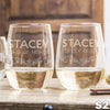 Stemless White Wine Glass - Design: S2WP