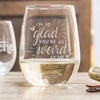 Stemless White Wine Glass - Design: VDWEIRD