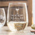 Etched Stemless White Wine Glasses - Design: Keep Calm and Drink Wine
