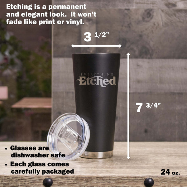24oz Metal Tumbler - Design: K2