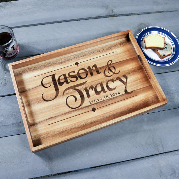 Large Wood Tray - Design: N2